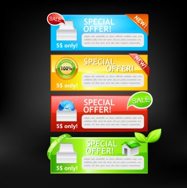 Sale banners. Vector