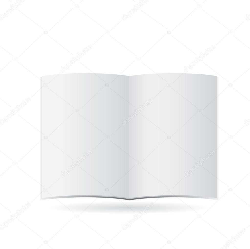 magazine blank page template for design stock vector pokomeda