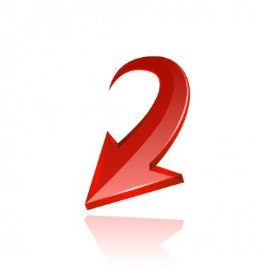 Red arrow icon. Vector