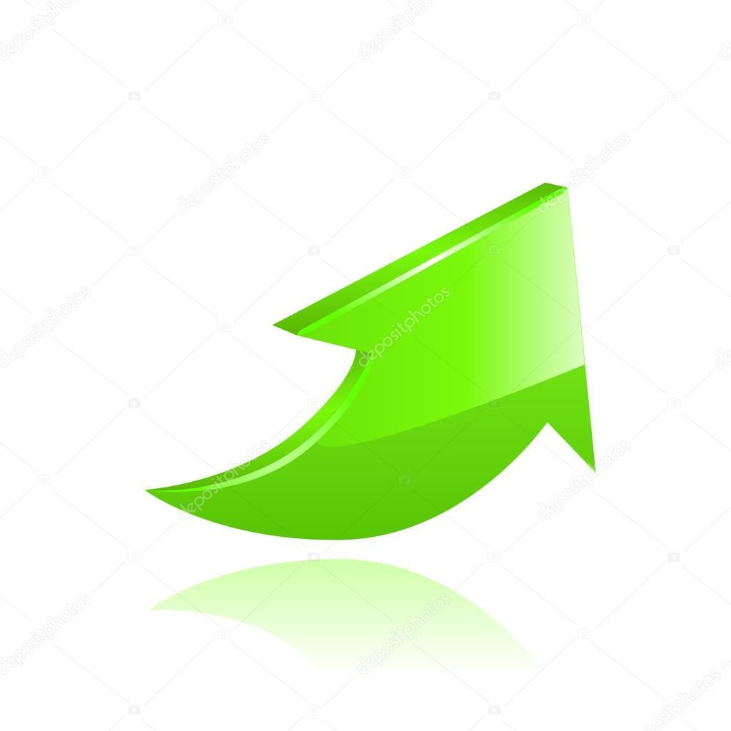 Flecha verde vector vector de stock pokomeda 27487915 for Immagini vector