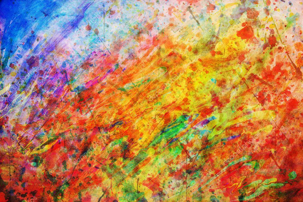 Imagenes Coloridas De Fondo: Colorida Pintura Abstracta. Colores De Fondo