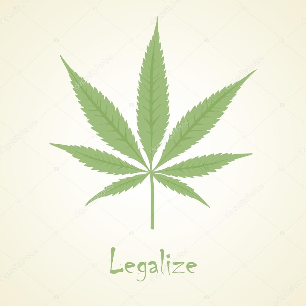 Vector cannabis leaf. Marijuana.