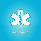 blauer Vektor medizinischer Hintergrund
