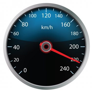 Speedometer on white background (vector)