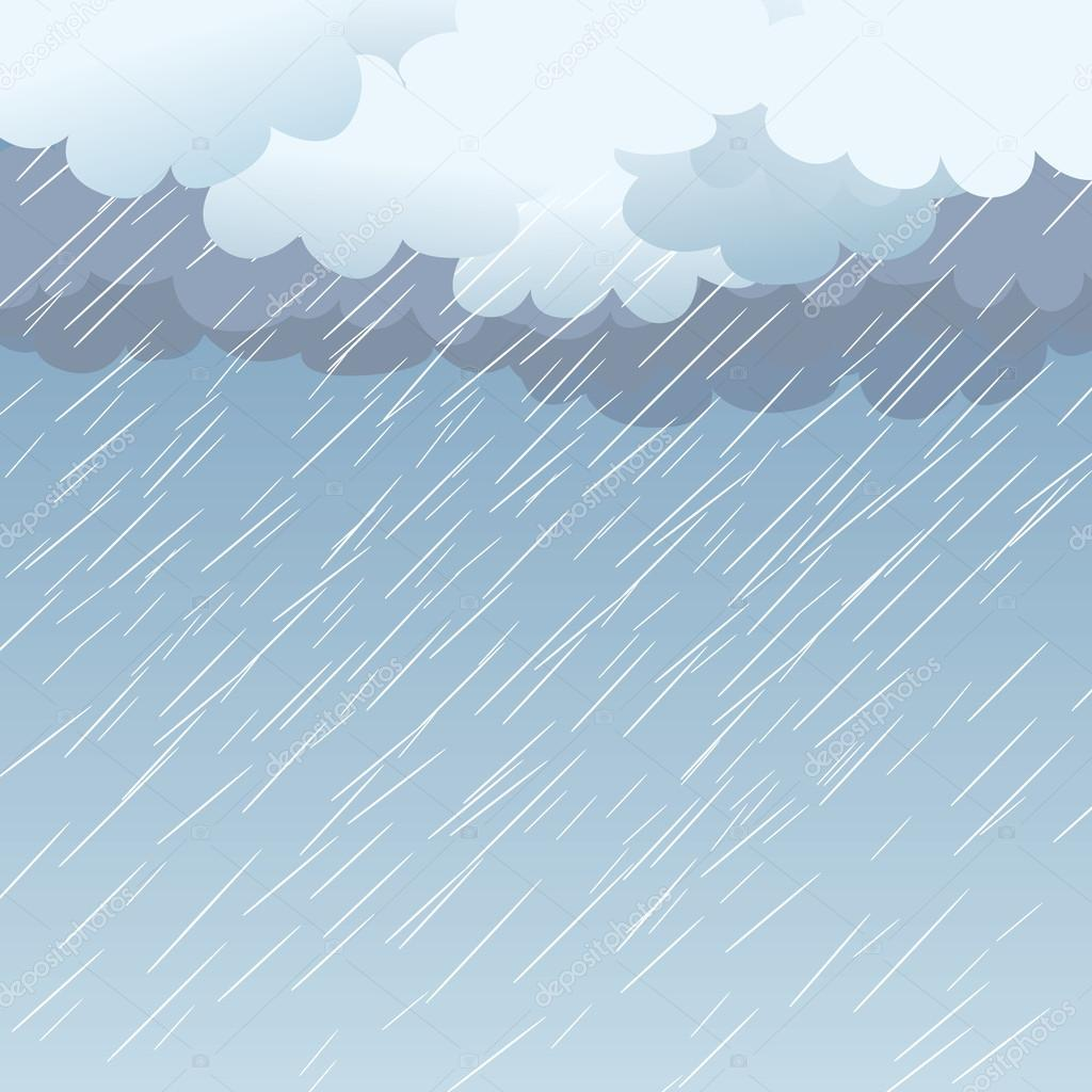 Rain as a background, vector — Stock Vector © wawritto ...