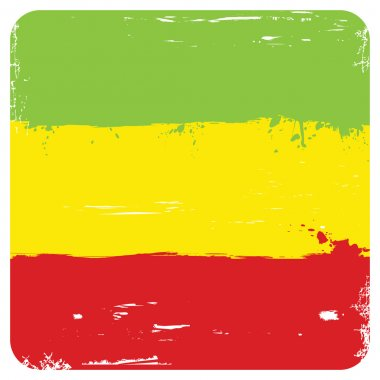 Grunge background with flag of Ethiopia isolated on white. Vecto