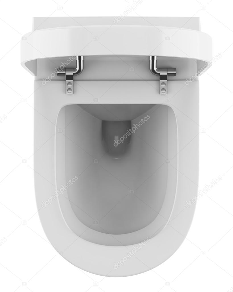 widok z g ry o nowoczesne wc miska na bia ym tle zdj cie stockowe tiler84 16241521. Black Bedroom Furniture Sets. Home Design Ideas