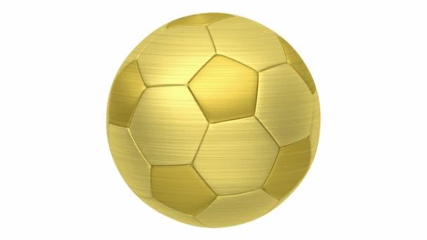 goldene Fußballschlaufe auf weißem Hintergrund