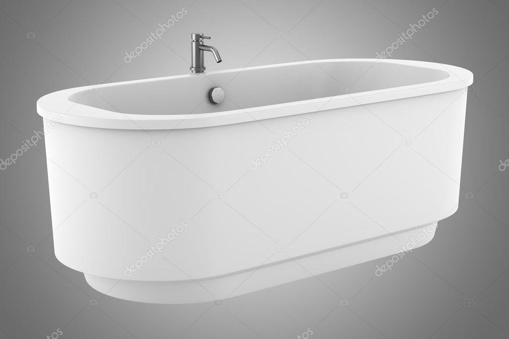 vasca da bagno moderno isolato su sfondo grigio — Foto Stock ...