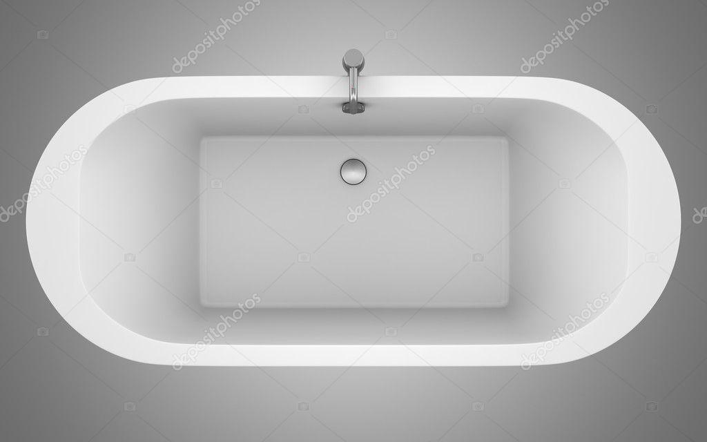 Vista dall 39 alto della vasca da bagno moderno isolato su sfondo grigio foto stock tiler84 - Vasca da bagno grigia ...
