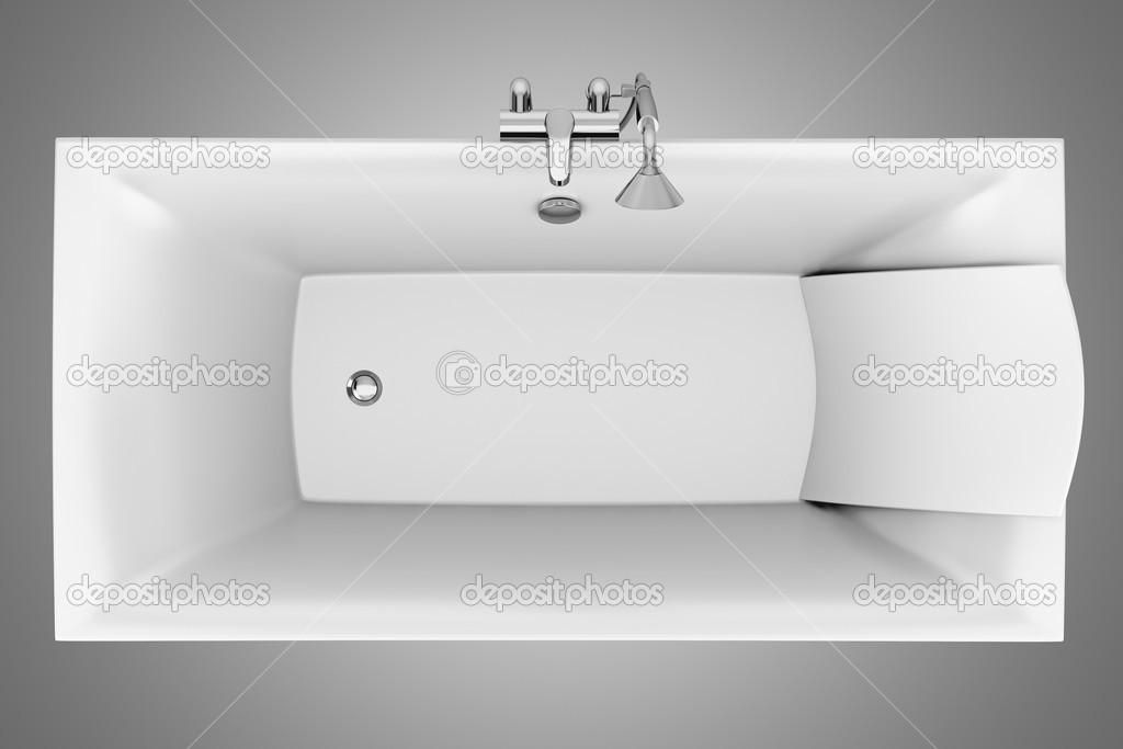 Vista dall 39 alto della vasca da bagno moderno isolato su - Vasca da bagno grigia ...