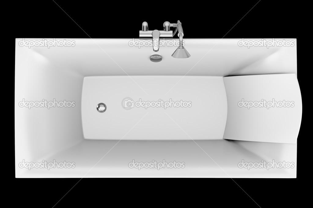 Vasca Da Bagno Kuvet : Vista dall alto della vasca da bagno moderno isolato su sfondo