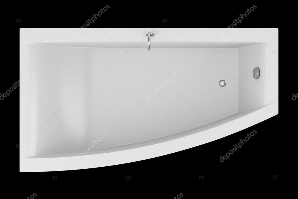 Vasca Da Bagno Vista : Vista dall alto della vasca da bagno moderno isolato su sfondo