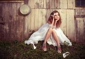 Fényképek egy élet problémáikat magányos menyasszony