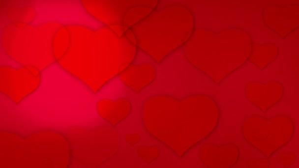 Valentines hearts background loop