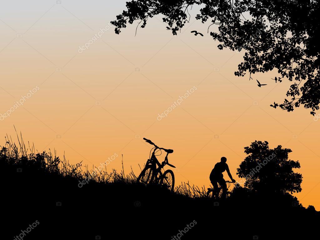 Biking near town
