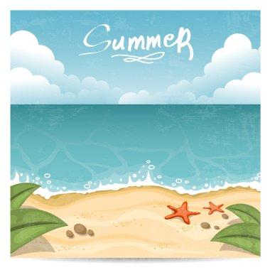 Summer beach. Vector illustration
