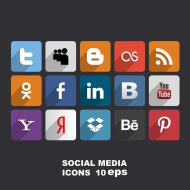 Social media icons. Vector illustration