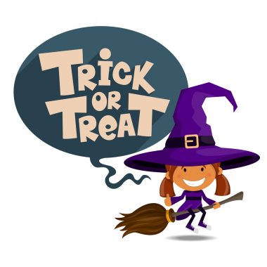 Trick or treat. Vector Illustration of Halloween theme.