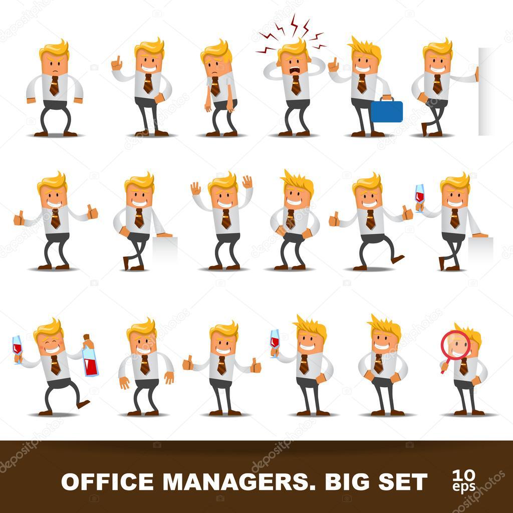 Set of Happy office man