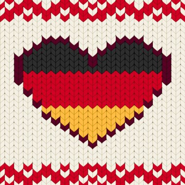 Knitted pattern Germany flag