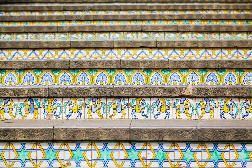 Decoratie van de beroemde trappen in caltagirone u2014 stockfoto