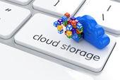 Fotografia concetto di cloud storage