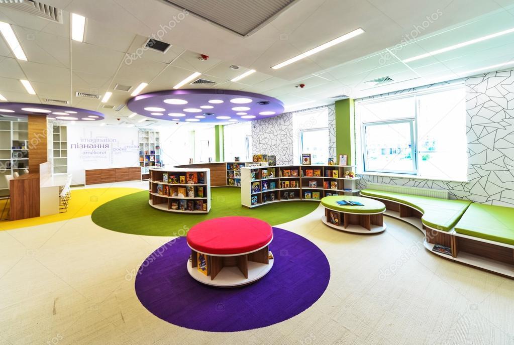 moderne Schule-Interieur — Redaktionelles Stockfoto © baburkina ...