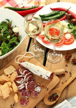 """Картина, постер, плакат, фотообои """"оливки и вино """", артикул 43836095"""