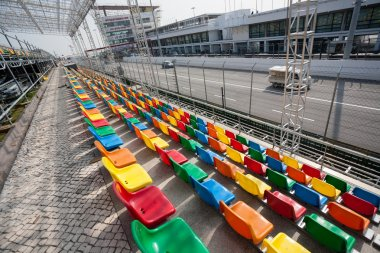 Track and spectator stands for the Macau Grand Prix.