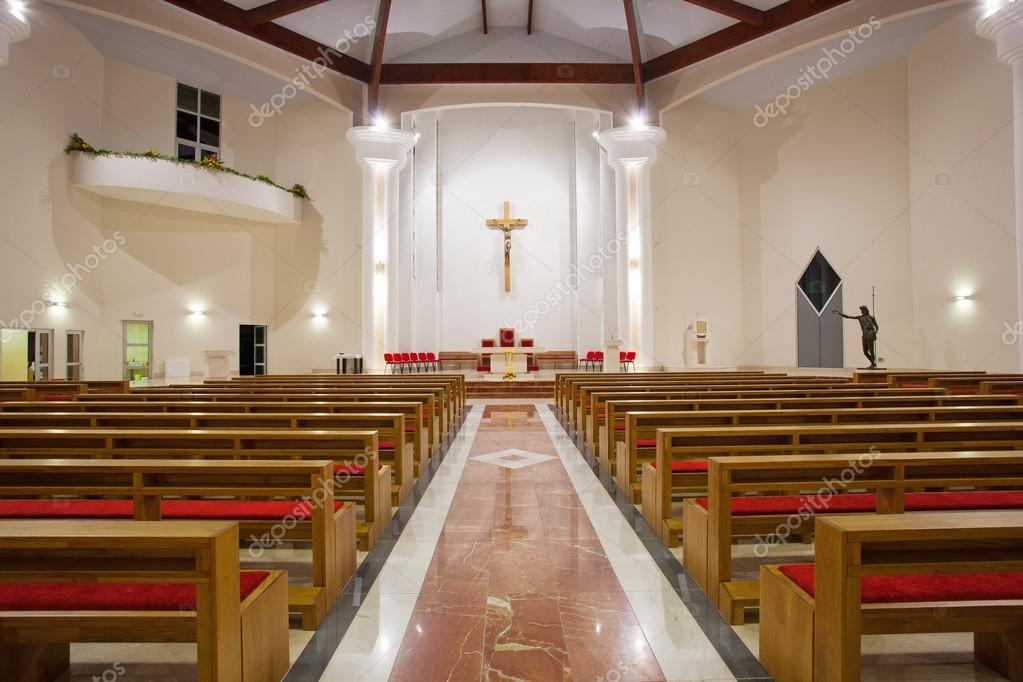 Modern Church Interior Stock Photo Gsermek 25936943