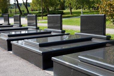 Blank tombstones