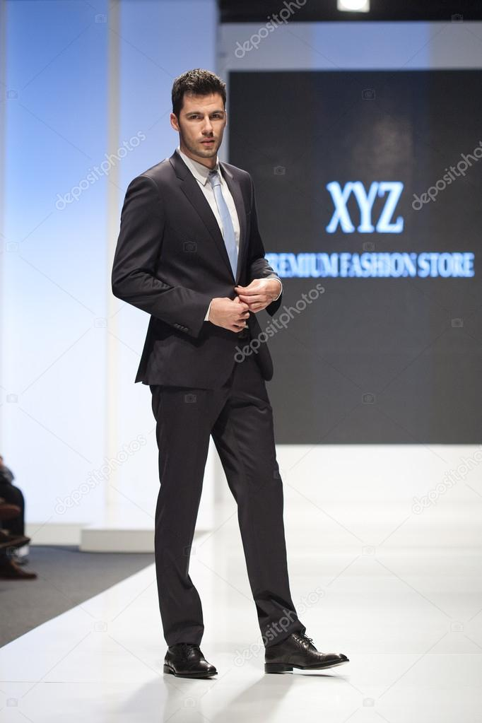 Male fashion model in a suit