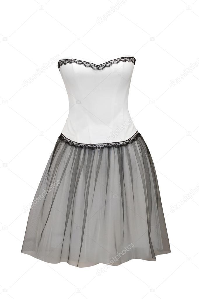 84aee39fc97436 mooie cocktail jurk geïsoleerd op wit — Stockfoto © gsermek  42492711