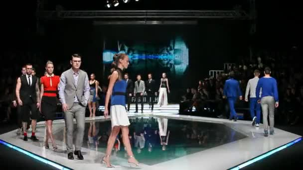 Fashion models on the catwalk