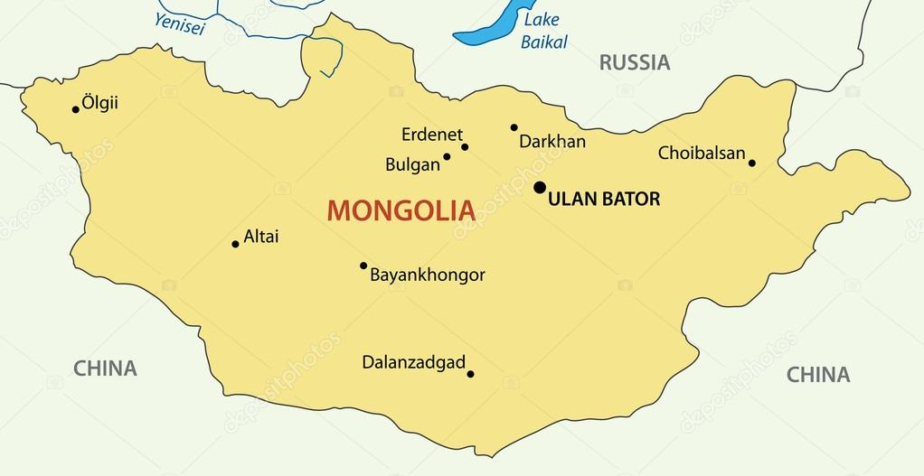 Mongolia vector map Stock Vector pavalena 12140625