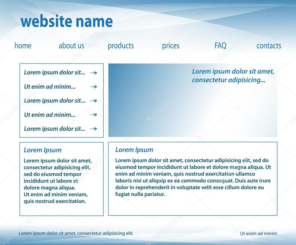 Plantilla azul luz - sitio web (capa) - eps 10 — Archivo Imágenes ...