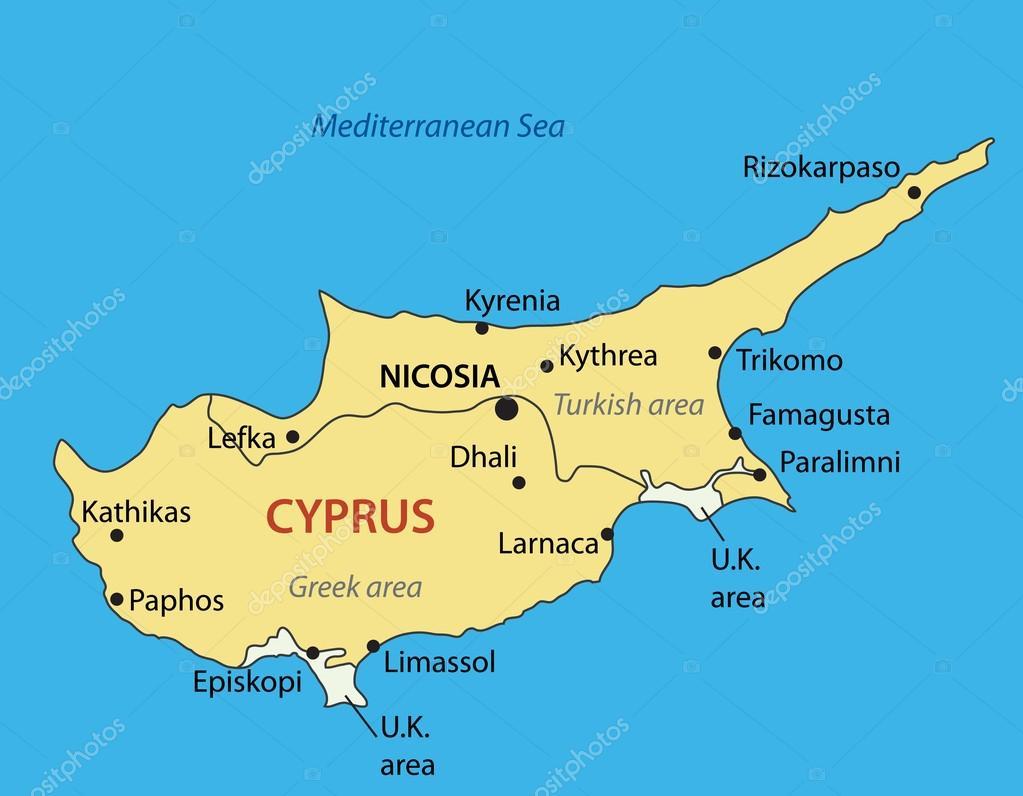 karta cypern Cypern   vektor karta — Stock Vektor © pavalena #13726341 karta cypern