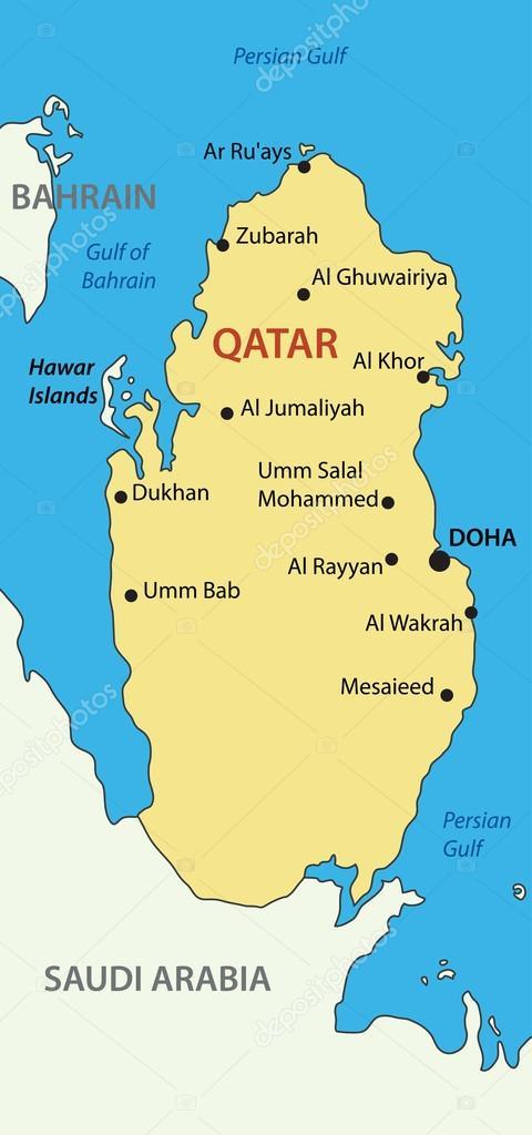 katar térkép Katar   vektoros Térkép — Stock Vektor © pavalena #13972454 katar térkép