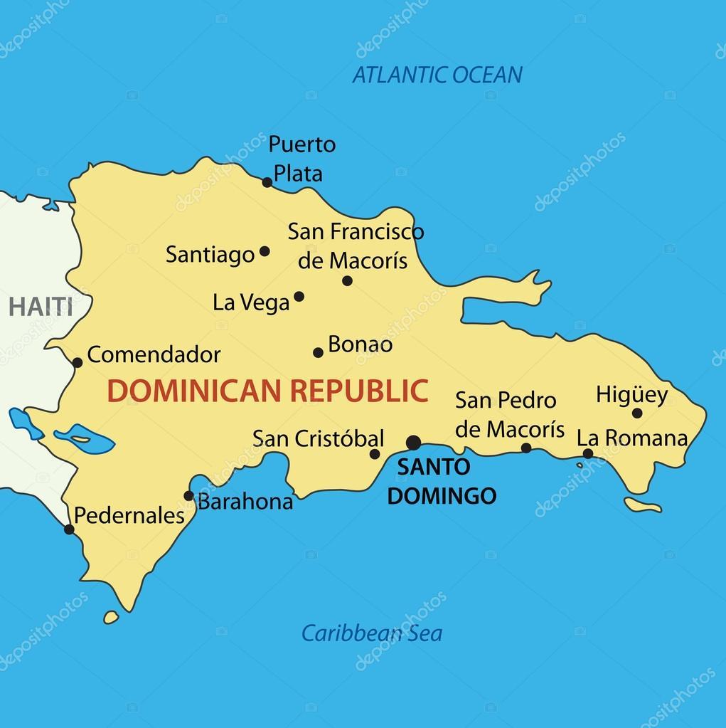 Dominican Republic - vector map