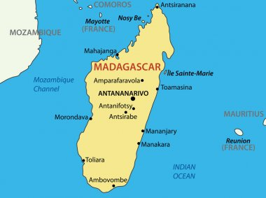 Republic of Madagascar - vector map