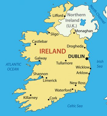 Republic of Ireland - vector map