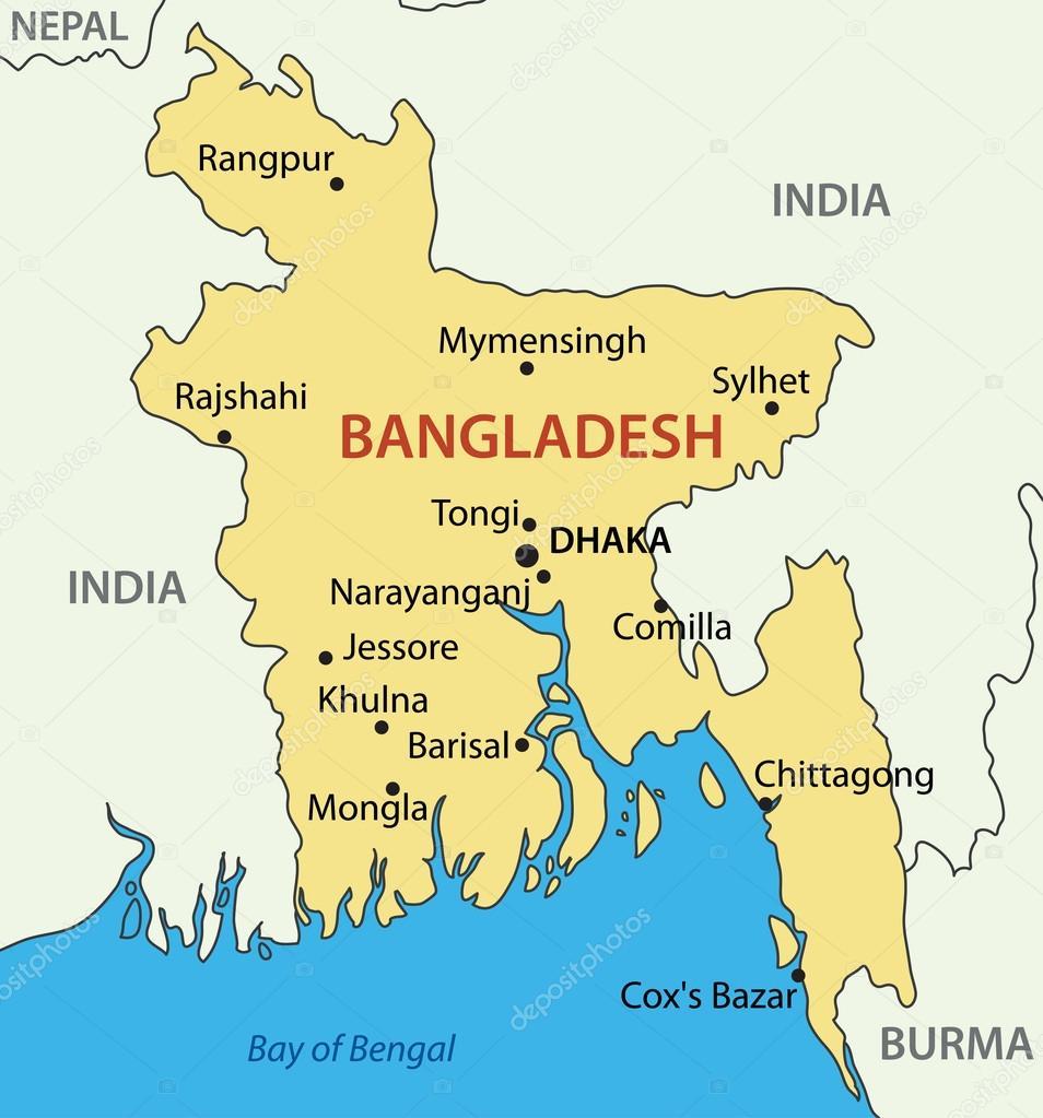 S Republic Of Bangladesh Vector Map Stock Vector Pavalena - Bangladesh map download