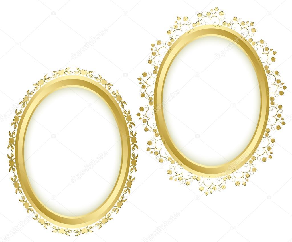 hermosos Marcos decorativos dorados - conjunto de vectores — Archivo ...