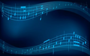 abstract vector background with musical notes
