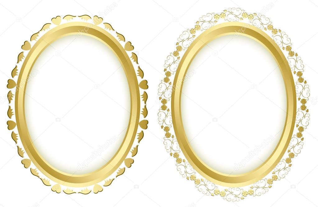 Vector conjunto - marcos dorados hermosos — Vector de stock ...