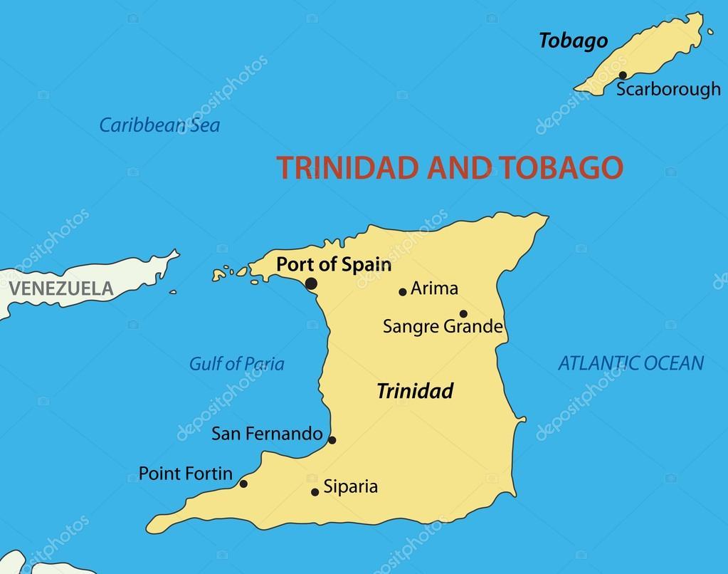 Republic of Trinidad and Tobago vector map Stock Vector