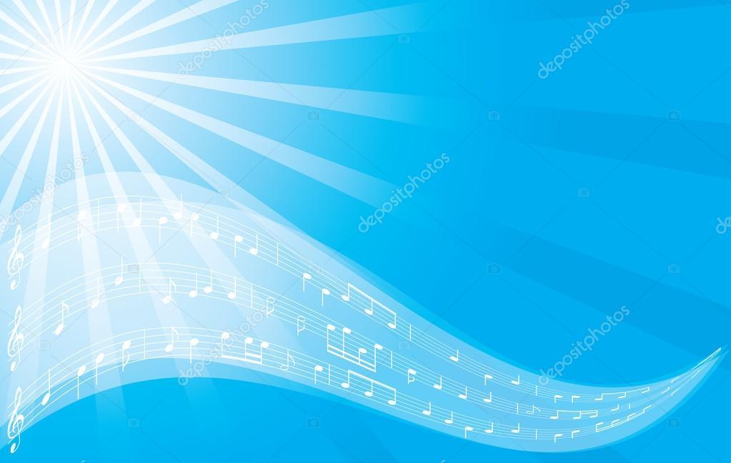 blue flyer background