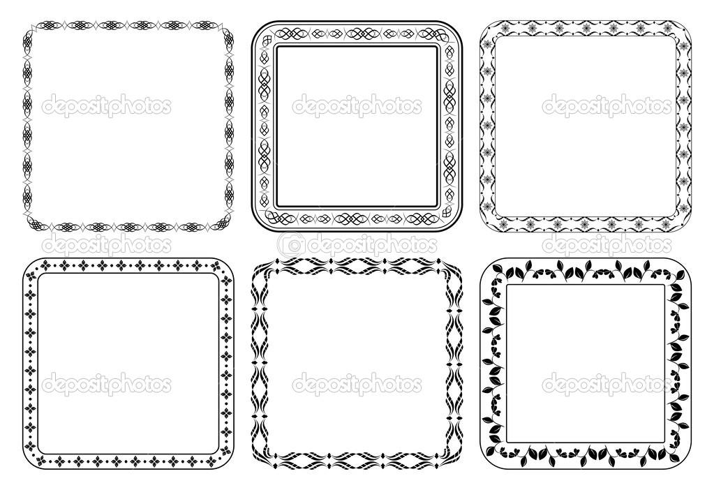 conjunto de vectores Marcos - cuadros decorativos — Vector de stock ...