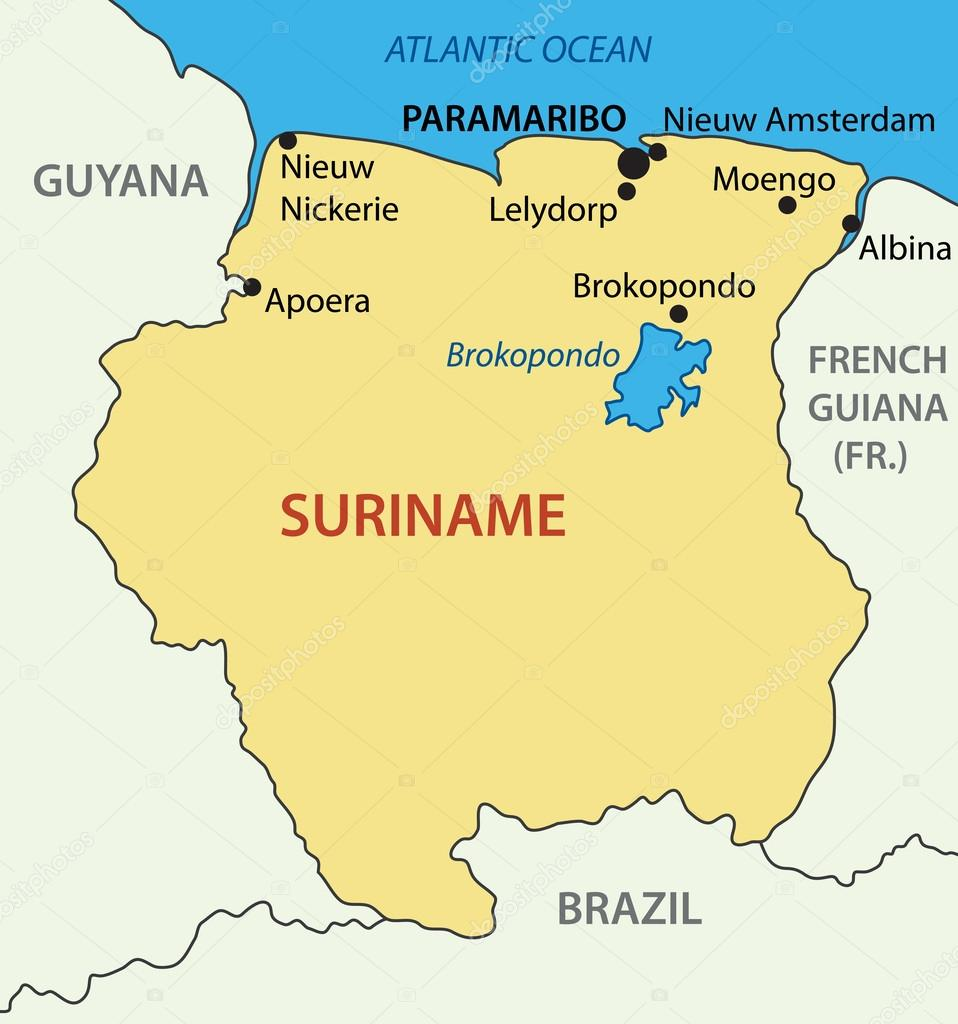 Republic of Suriname vector map Stock Vector pavalena 40703425
